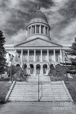 Capitol Building Photograph - Maine State House Vi by Clarence Holmes
