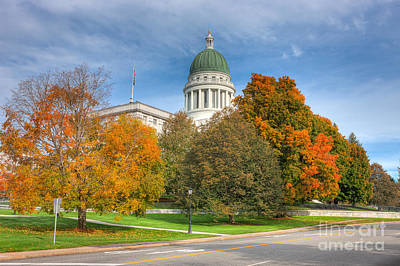 Capitol Building Photograph - Maine State House Vii by Clarence Holmes