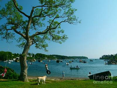 Granger Royalty Free Images - Maine Summer Day at Mackerel Cove   Royalty-Free Image by Christine Stack