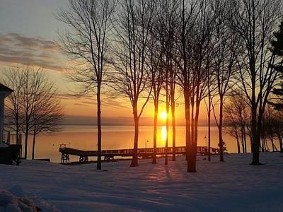Maine Winter Sunrise Art Print by Melissa C