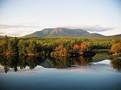 Katahdin Photograph - Maines Mount Katahdin And The Penobscot by Chris Bennett