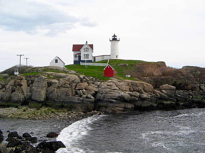 Photograph - Maine's Nubble Lighthouse by Denise Mazzocco