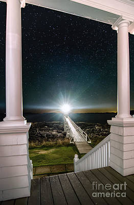 Maines Premier Porch Light Art Print by Scott Thorp