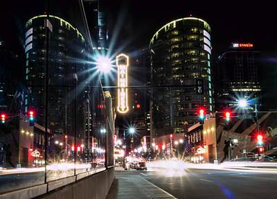 City Photograph - Mainstreet At Night by Laurie Douglas