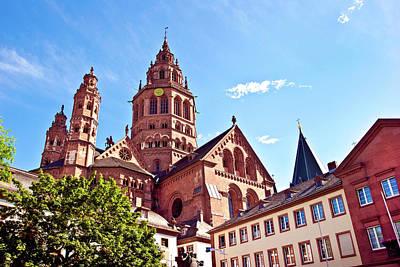 Saint-martin Photograph - Mainz, Germany, Saint Martin's Cathedral by Miva Stock