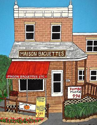 Maison Baguettes Art Print by Stephanie Moore