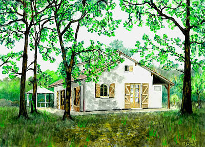 Painting - Maison En Medoc by Marc Philippe Joly