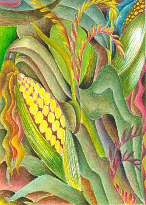 Maize Art Print by Jaanaka Kandepola
