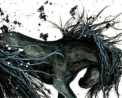 Friesian Painting - Majestic Abstract Horse by AmyLyn Bihrle