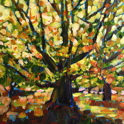Majestic And Colorful Tree Art Print by Robie Benve