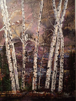 Majestic Birch Art Print