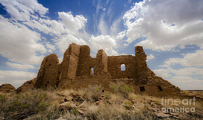 Photograph - Majestic Blue Sky Over Ancient Pueblo Pintado On Navajo Indian Reservation New Mexico by Jerry Cowart