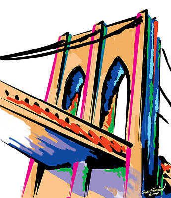 Majestic Brooklyn Bridge Art Print