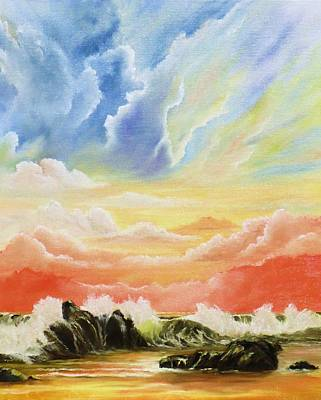 Majestic Clouds Art Print by Janet Hufnagle