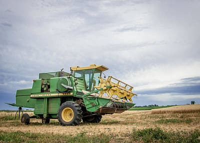 Print featuring the photograph Majestic Combine by Dawn Romine