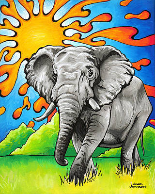 Painting - Majestic Elephant by Adam Johnson