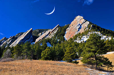 Majestic Flatirons Of Boulder Colorado Art Print