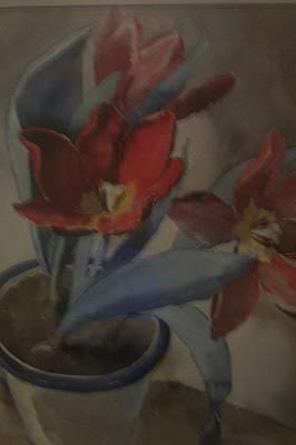 Majestic Floral Watercolor  Art Print by Paul Immel