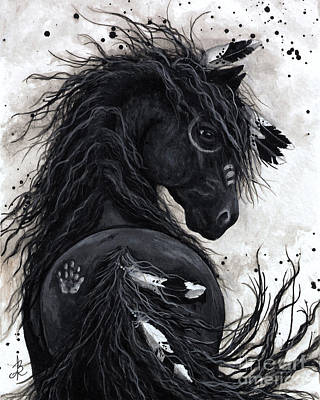 Majestic Mustang Series Painting - Majestic Friesian Horse 45 by AmyLyn Bihrle