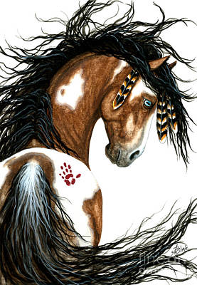 Indian Pony Painting - Majestic Horse #106 by AmyLyn Bihrle