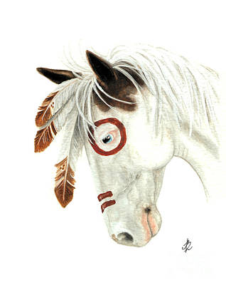Dun Horse Painting - Majestic Horse Medicine Hat 41 by AmyLyn Bihrle