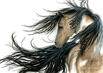 Native American Horse Painting - Majestic Horse Series 89 by AmyLyn Bihrle