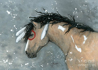 Curly Horse Painting - Majestic Horse by AmyLyn Bihrle