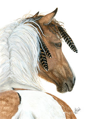 Curly Horse Painting - Majestic Curly Horse by AmyLyn Bihrle