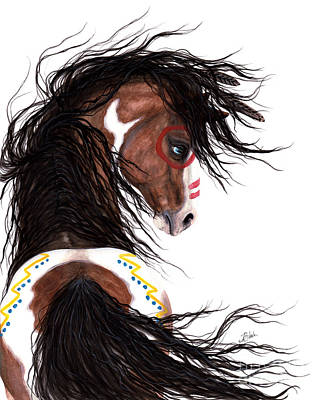 Pinto Painting - Majestic Horse Two Feather by AmyLyn Bihrle