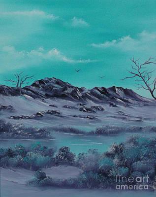 Drifting Snow Painting - Majestic Magic. by Cynthia Adams