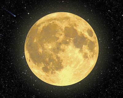 Majestic Moon Art Print