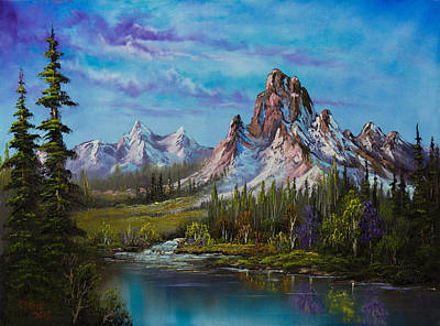 Bob-ross-style Painting - Majestic Morning by C Steele