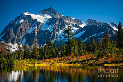 North Cascades Photograph - Majestic Mount Shuksan by Inge Johnsson