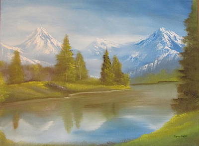 Nickel Yellow Painting - Majestic Mountains by Dawn Nickel
