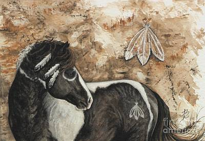 Horse Artwork Painting - Majestic Curly Horse #52 by AmyLyn Bihrle