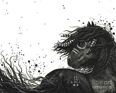 Majestic Friesian Horse 53 Art Print