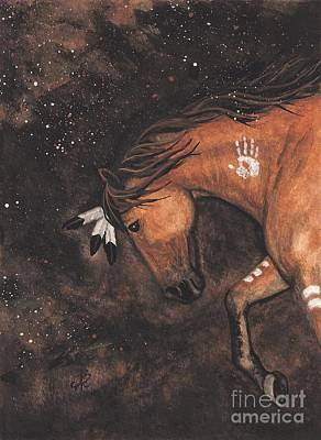 Tri Color Horse Painting - Majestic Mustang Series 40 by AmyLyn Bihrle