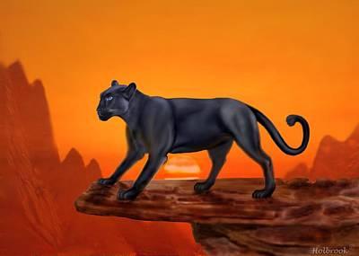 Four-legged Friends Digital Art - Majestic Panther by Glenn Holbrook