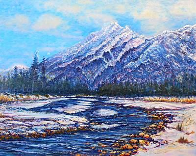 Painting - Majestic Peak - Futurism by Joseph   Ruff