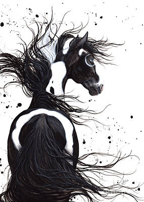 Mane Painting - Majestic Pinto Horse by AmyLyn Bihrle