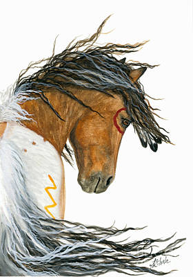 Horse Art Painting - Majestic Pinto Horse 110 by AmyLyn Bihrle