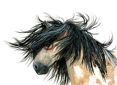 Dun Horse Painting - Majestic Pinto Horse by AmyLyn Bihrle
