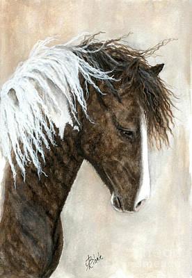 Majestic Curly Horse 91 Art Print by AmyLyn Bihrle