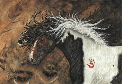 Pinto Painting - Majestic Pinto Horse 78 by AmyLyn Bihrle