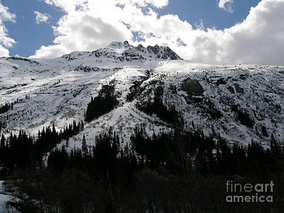 Nature Photograph - Majestic Skagway Mountaintop by Bev Conover