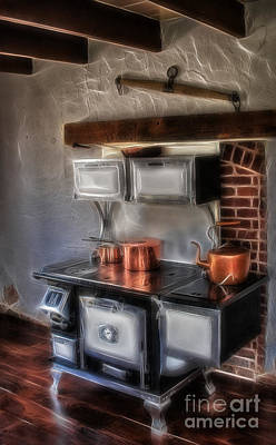 Majestic Stove Art Print by Susan Candelario