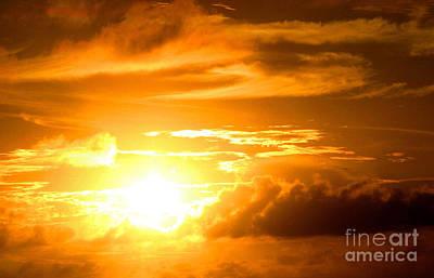Majestic Sunset Print by Kristine Merc