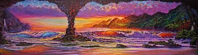 Painting - Majestic Purple Sunset  by Joseph   Ruff