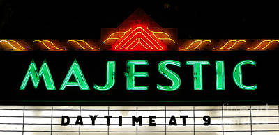 Digital Art - Majestic Theater Marquee Classic Cinema Americana Ink Outlines Digital Art by Shawn O'Brien