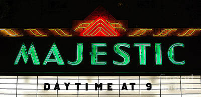 Digital Art - Majestic Theater Marquee Classic Cinema Americana Poster Edges Digital Art by Shawn O'Brien
